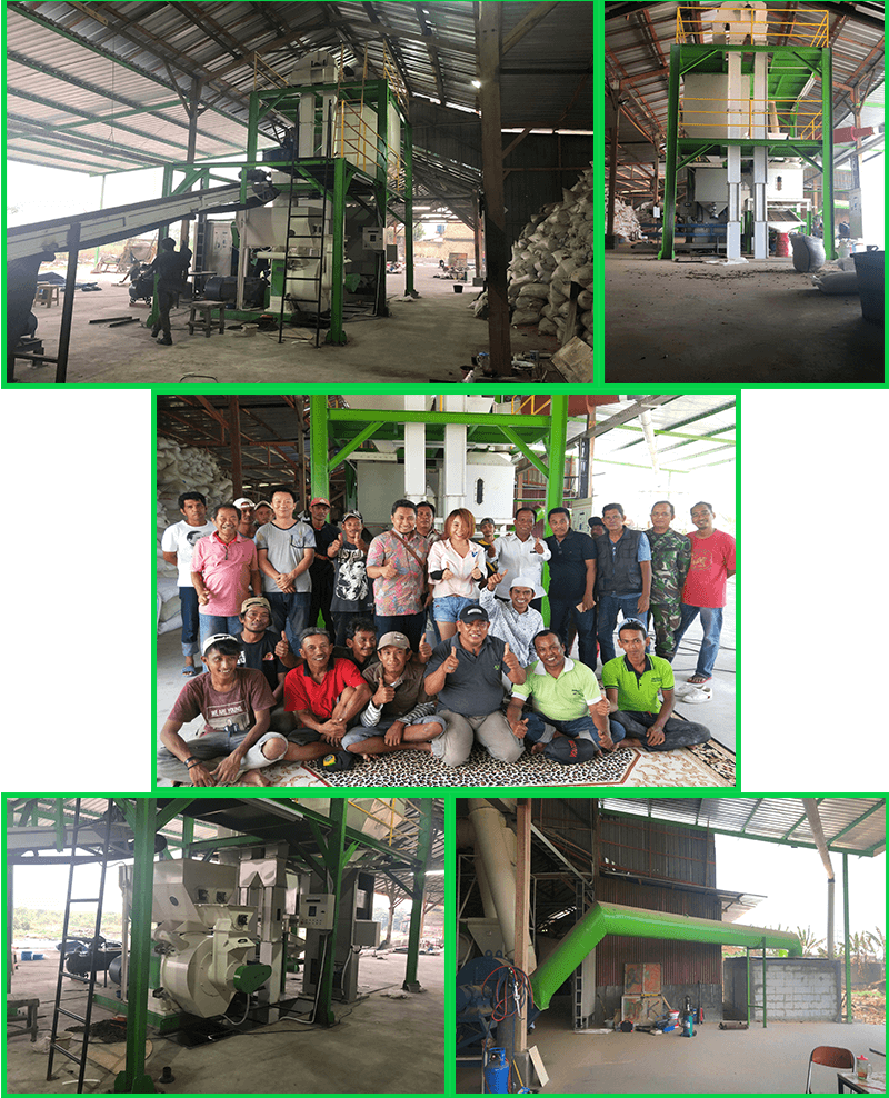 1.5-2T/H Wood Pellet Line has been installed in Indonesia